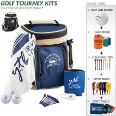 Promotional Golf Gift Set: Golf Cooler Set | Customized Golf Tournament Kits