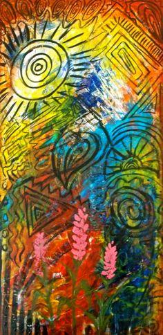 """""""Sun Burst"""" - acrylic on canvas"""