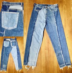 Reconstructed denim