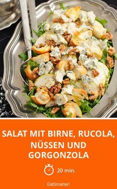 Salat mit Birne, Rucola, Nüssen und Gorgonzola - smarter - Zeit: 20 Min. | eatsmarter.de