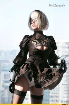 NieR Automata,Nier (series),Игры,2B(YoRHa),ero cosplay,cosplay