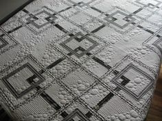 Wish this was mine! Cruising the web brought me to this beauty. It is all about the quilting on this one....someday..... : quilting