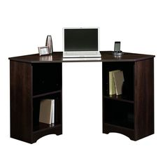 Corner Computer Desk Home Office Furniture Laptop Writing Table Wood Workstation #Sauder #Modern