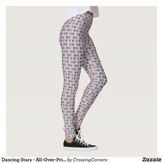 Dancing Stars - All-Over-Print Leggings Star Designs, Cool Designs, Print Leggings, Leggings Fashion, Look Cool, Party Hats, Dressmaking, Pink Grey, Custom Made