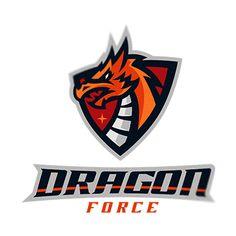 Esport logo Dragon force on Behance Wb Logo, Team Logo, Logo Dragon, Sports Decals, Logo Design Tutorial, Unicorn Pictures, Esports Logo, Usa Sports, E Sport