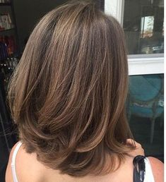 Best Haircut Shoulder Length Layers Ideas - Haircut Types Be Medium Hair Cuts, Long Hair Cuts, Medium Hair Styles, Curly Hair Styles, Short Hair With Layers, Thin Hair, Thick Hair Long Bob, Layered Bob Thick Hair, Shoulder Length Hair Cuts With Layers
