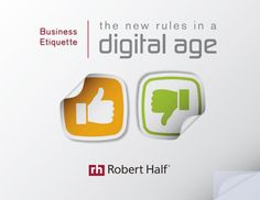 How has etiquette evolved in the workplace? This guide will help you and your employees understand how to put your best foot forward in today's online world. Learn etiquette tips when using social networking sites, as well as mobile devices, instant messaging, and phone, video and web conferencing. You'll also find answers to sticky etiquette questions. http://s3.amazonaws.com/DBM/M3/2011/Downloads/RH_BusEtiquette_SEC.pdf