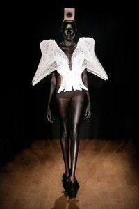 """Iris van Herpen """"Escapism"""" Jan 2011 3D printed top"""