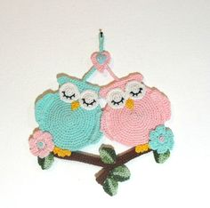 Pattern tutorial crocheted sleeping owls pattern wall by artefyk