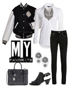 """""""Black White & Sparkle"""" by easy-dressing ❤ liked on Polyvore featuring NIC+ZOE, Joe's Jeans, Givenchy, DYLANLEX, Chico's and Yves Saint Laurent"""