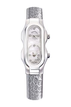 Women's Diamond Quartz Genuine Snake Leather Strap Watch