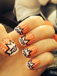 comic book nails! love