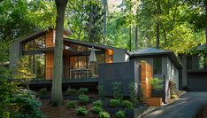 Tour an Atlanta Beltline Mid-century Modern House Renovation Modern House Design Atlanta Beltline House midcentury Modern renovation tour Small Modern Home, Mid-century Modern, Modern Design, Modern Houses, Urban Design, Contemporary, Modern Exterior, Exterior Design, Le Ranch