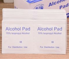 Portable 100pcs/Box Alcohol Swabs Pads Wipes Antiseptic Cleanser Cleaning Sterilization First Aid Home