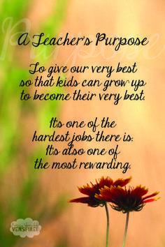 A Teacher's Purpose