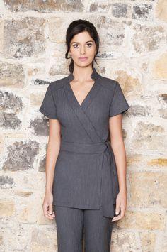 Emma Beauty Tunic by Diamond Designs Uniforms / Cotton Beauty + Spa Uniforms