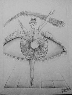 Ceva de genul art em 2019 art sketches, ballet drawings e da Cool Eye Drawings, Pencil Art Drawings, Beautiful Drawings, Art Drawings Sketches, Tumblr Drawings, Beautiful Pictures, Ballet Drawings, Dancing Drawings, Ballerina Drawing