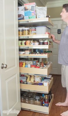 Learn how to maximize your space with these pantry organization ideas. You'll be amazed at how much you can fit into a small pantry. Having an organized pantry will save you money and make dinner prep so much easier.