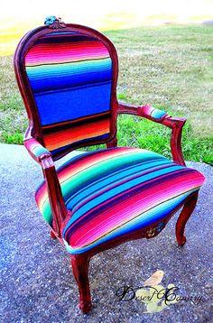 Desert Canary Design | Bright Serape Chair | Southwestern | Furniture | The Big and Bright