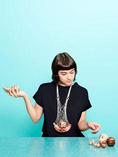 Gésine Hackenberg Necklace: Horn of Plenty, 2013 Silver, copper
