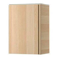 IKEA - GODMORGON, Armario pared&1 puerta, efecto roble tinte blanco, , 10 años de garantía. Consulta las condiciones generales en el…