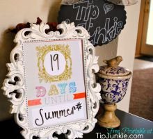 Bohemian Count Down Template  {free printable}