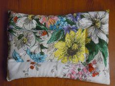 bouillotte sèche garnie de blé réutilisable réchauffage au micro-ondes tissu fleuri : Soin, bien-être par petite-bete-des-iles