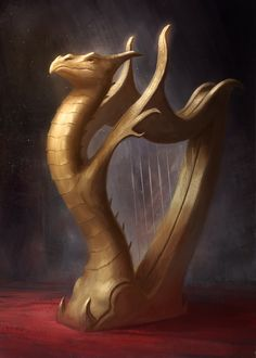 Alchemist Magnus gave this magic harp to Twink for his 10th birthday. #thedoorinthesky #fantasy