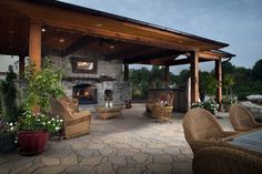 Talk about an outdoor room! This grand space truly brings the indoors out and creates a space for the whole family to enjoy.