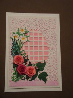 (Made by Susanne Elfrom Nguyen) Kort med roser