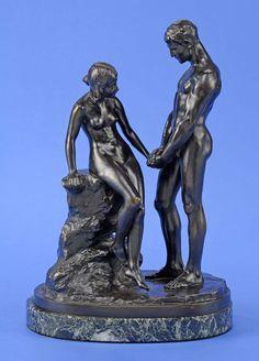Kruse, Max 1854 Berlin - 1942 Berlin Liebespaar. Signiert. Bronze. Nummeriert,,49´´. Gießerste — Skulpturen, Möbel, Kunsthandwerk