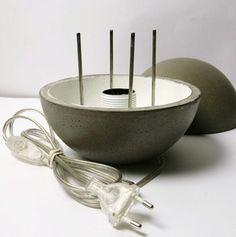 1000 ideas about concrete lamp on pinterest lamps. Black Bedroom Furniture Sets. Home Design Ideas