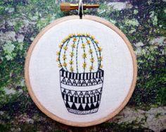 Bordados modernos 'Cactus 2' 3 pulgadas aro arte