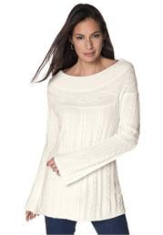 Cuddle with this Cable Knit Tunic #PlusSize