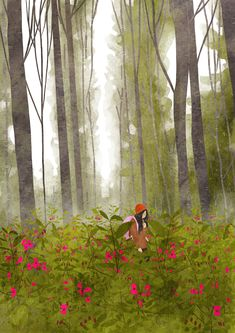 Spring gifs on Behance Animated Love Images, Animated Gif, Alone Art, Illustrator, Anime Scenery Wallpaper, Forest Art, Beautiful Gif, Aesthetic Gif, Cute Gif