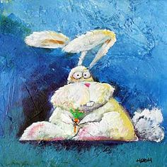 To hare or not to hare, 30x30, acryl on canvas. By Svend Høgh. http://www.artbyhogh.dk