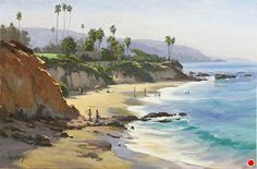 Divers Cove Day by John Cosby Oil ~ 16 x 24