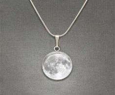 Enjoy a full moon no matter what stage of the lunar cycle we're on with this moon necklace pendant. These hand crafted moon pendants are seated in solid metal plates, giving it a durable finish so you can moon people for years and years. Cute Jewelry, Jewelry Box, Unique Jewelry, Jewelry Accessories, Jewlery, Moon Jewelry, Moon Necklace, Pendant Necklace, Disc Necklace