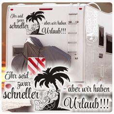WoMo017 Urlaub Chillkröte Wohnmobil Aufkleber Wohnwagen Sticker