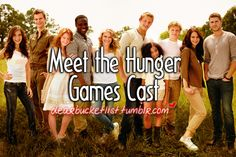 UM YES! meet the hunger games cast! #beforeidie