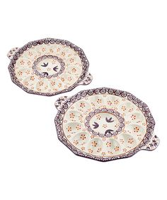 Love this Eggplant Old World Egg Tray - Set of Two by temp-tations on #zulily! #zulilyfinds