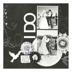 I Thee Wed Scrapbook Page Layout Project Idea from #CreativeMemories    www.creativememor...