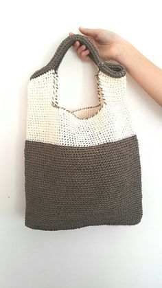 Handmade Bag,Crochet Shoulder Bag, Handbags ,Summer Fashion Bag,Raffia Yarn Bags