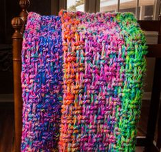 This is one of our favorite spring scrapbuster crochet patterns! I love the colors. | Scrap Buster Blanket