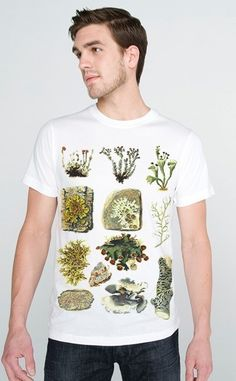 Earthy Lichen Tee Woodland Hippy Shirt