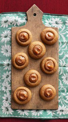 Delicious Gingerbread Thumbprint Cookies with Dulce de Lechethepioneerwoman