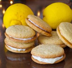 Lemon Creme Sandwich Cookies. A great holiday cookie recipe. Great for gift giving or enjoying by the fire. Santa approved!