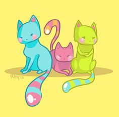 Candy cats take two by ReeFG on DeviantArt