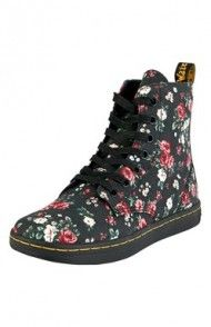 Buty (czarny/w kwiaty) Dr. Martens, Combat Boots, Shoes, Fashion, Moda, Combat Boot, Zapatos, Shoes Outlet, Fasion