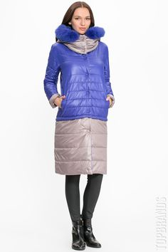 Пальто-трансформер с капюшоном Anna Verdi Элеонора(песец) за 18000 руб. Интернет магазин брендовой одежды премиум-класса онлайн бутик - Topbrands.ru